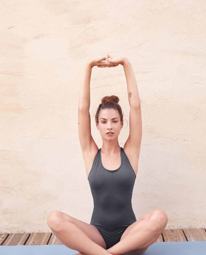 Sports Body Flecked Grey Yoga Princesse Tam Tam