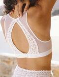 Soft bustier bra White Monica