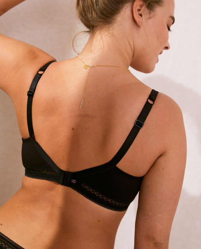 Underwired bra Black Eclat