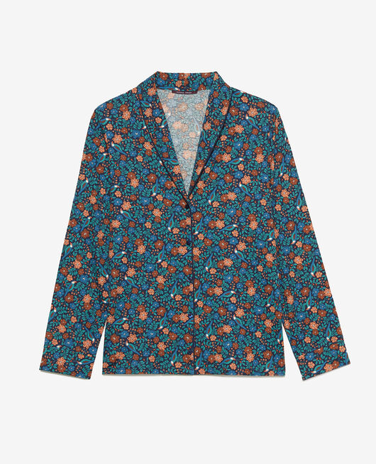 Pyjama jacket Navy nightingale Paresse print