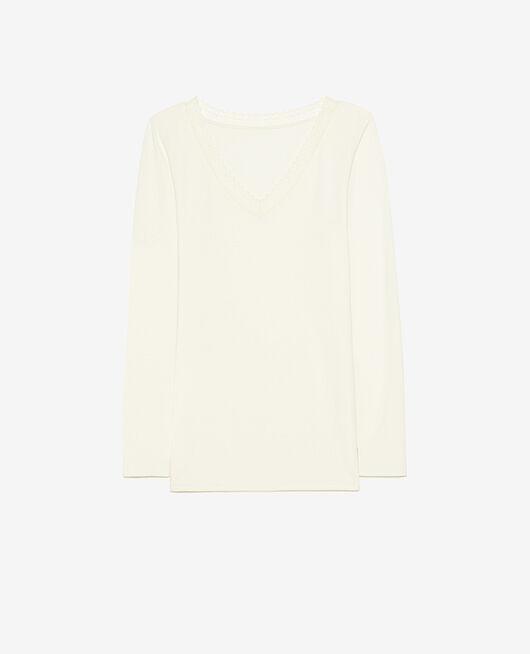 T-shirt manches longues Blanc glacé Heattech® extra warm