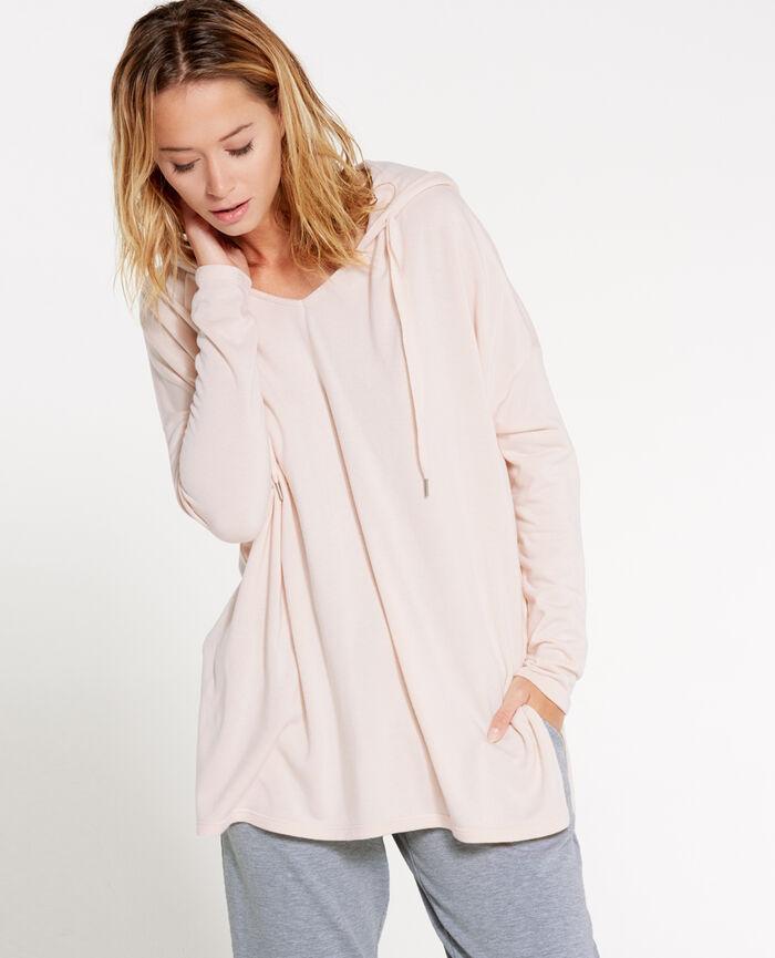 Sweat à capuche Beige quartz Loungewear