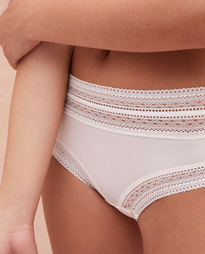 High-waisted briefs Rose white Eclat