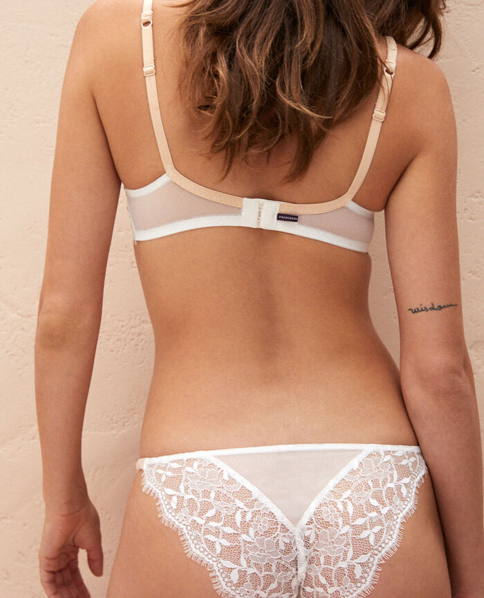 Culotte taille basse Blanc rosé Arty