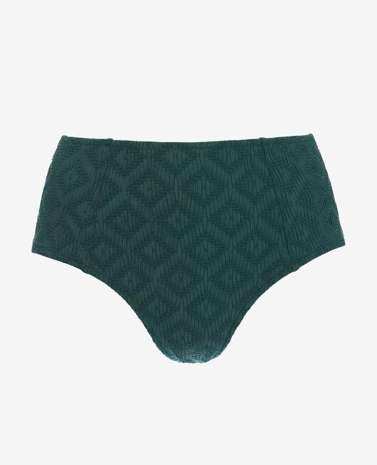 Culotte de bain taille haute Vert céramique Yugi