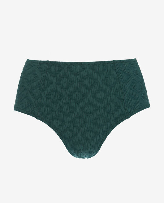 High-waisted swim briefs Ceramic green Yugi