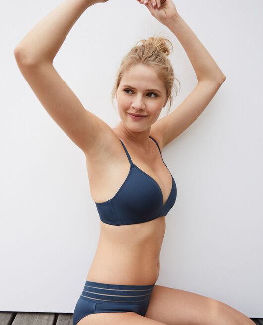 Spacer soft-cup bra Graphite grey Air lingerie
