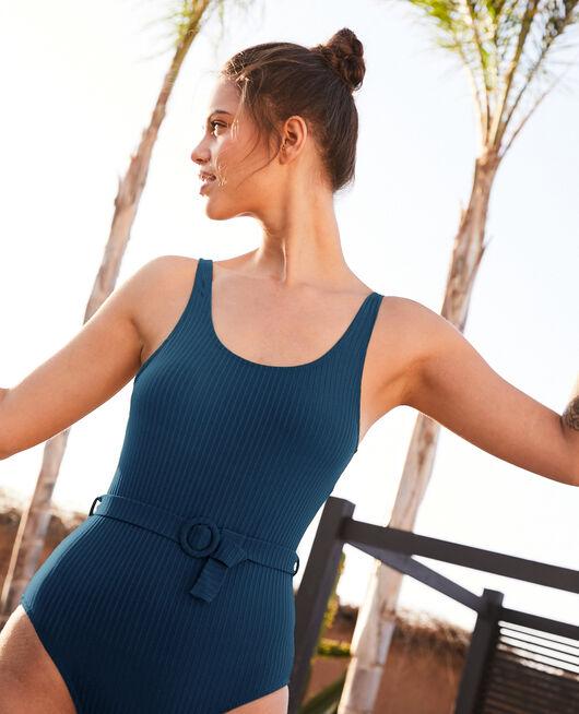 Swimsuit Sombrero blue Couture
