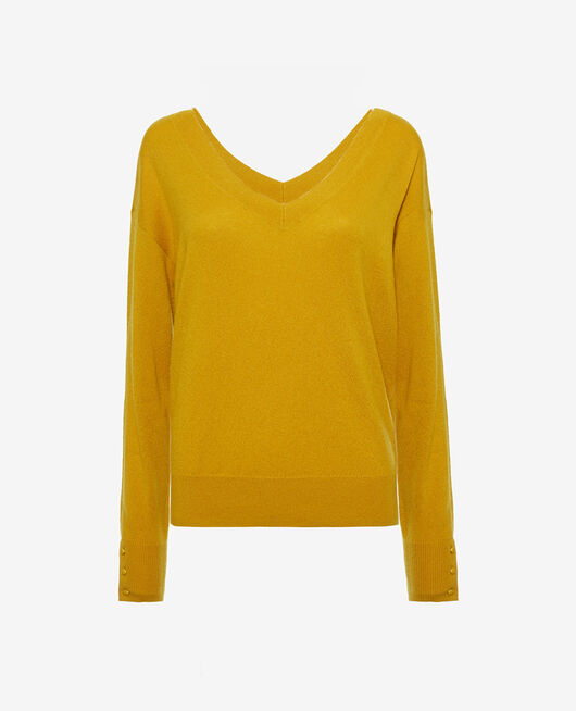 V-neck jumper Absinthe yellow Icone