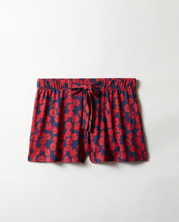 Pyjama shorts Navy hibiscus Tam tam shaker