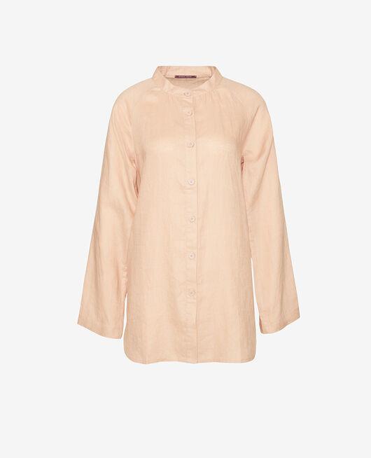 Long-sleeved nightdress Flecked beige Chic lin