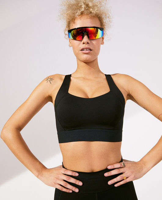 Sports bra high support Black Run