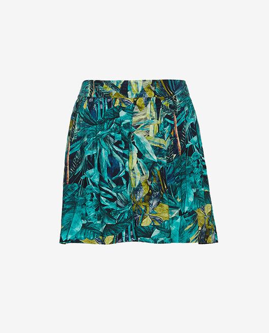 Shorts Blue palm Fancy viscose
