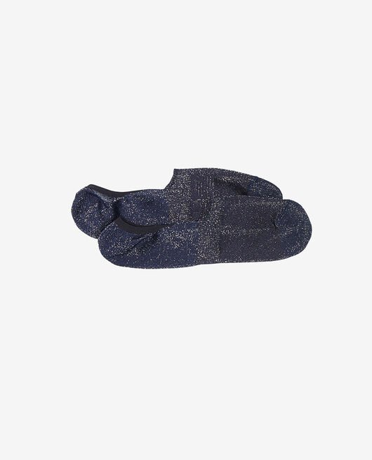 No-show socks Navy Glitter