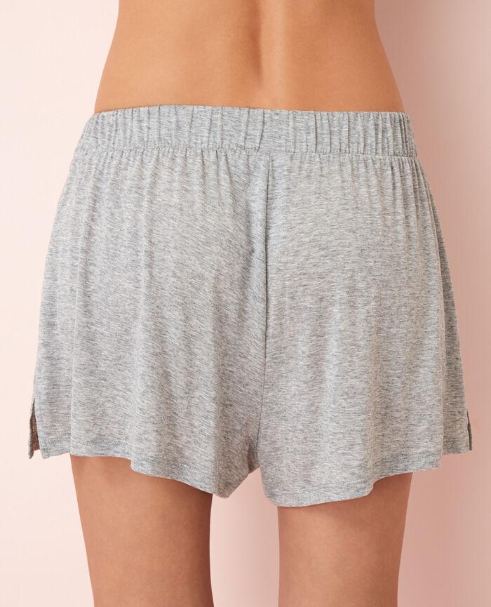 Short de pyjama Gris chiné Latte