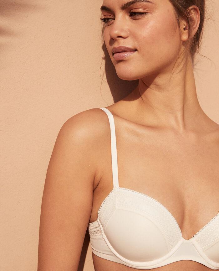 Progressive-cup push-up bra Rose white Eclat
