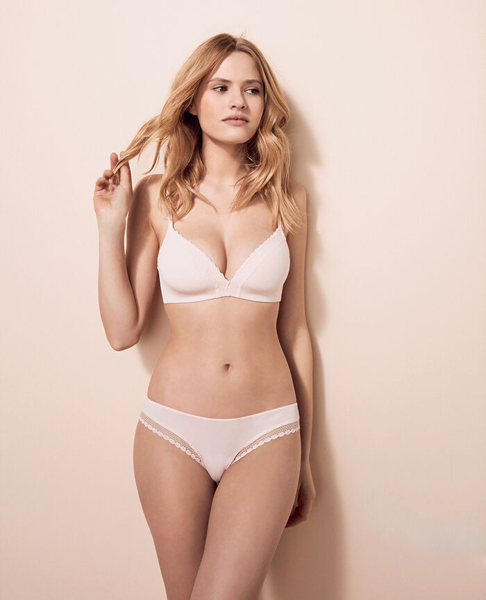 Soutien-gorge triangle spacer Rose plume Air lingerie