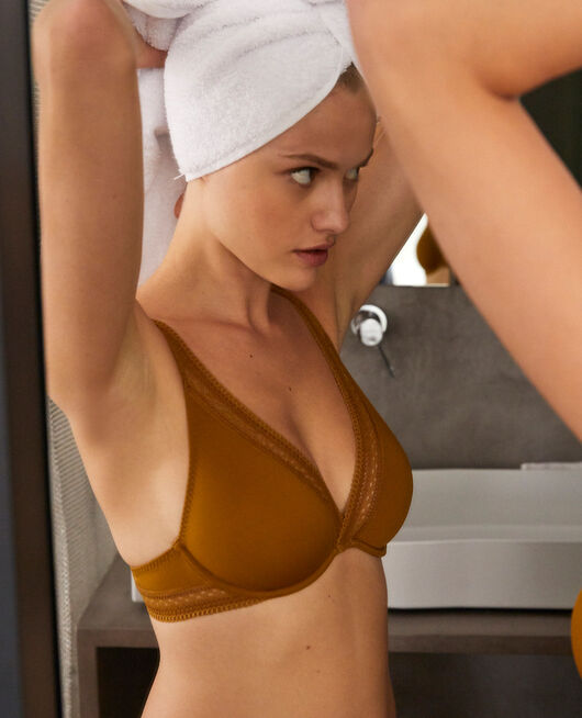 Underwired triangle bra Cocktail brown Eclat
