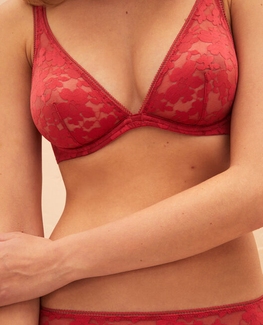 Underwired triangle bra Peony red Lumiere