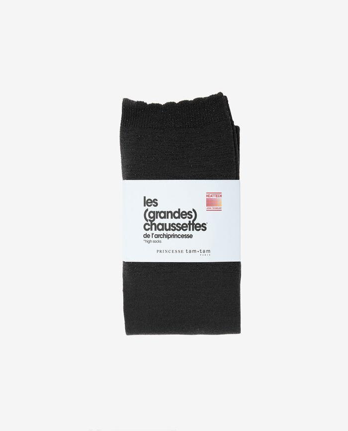Leg warmers Anthracite grey Sparkle