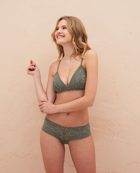 Triangle padde bra Casbah green Monica