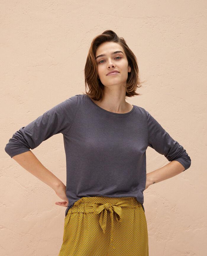 T-shirt manches longues Gris prestige Latte