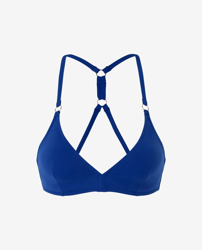 Mini-wire triangle bikini top Mascara blue Numa