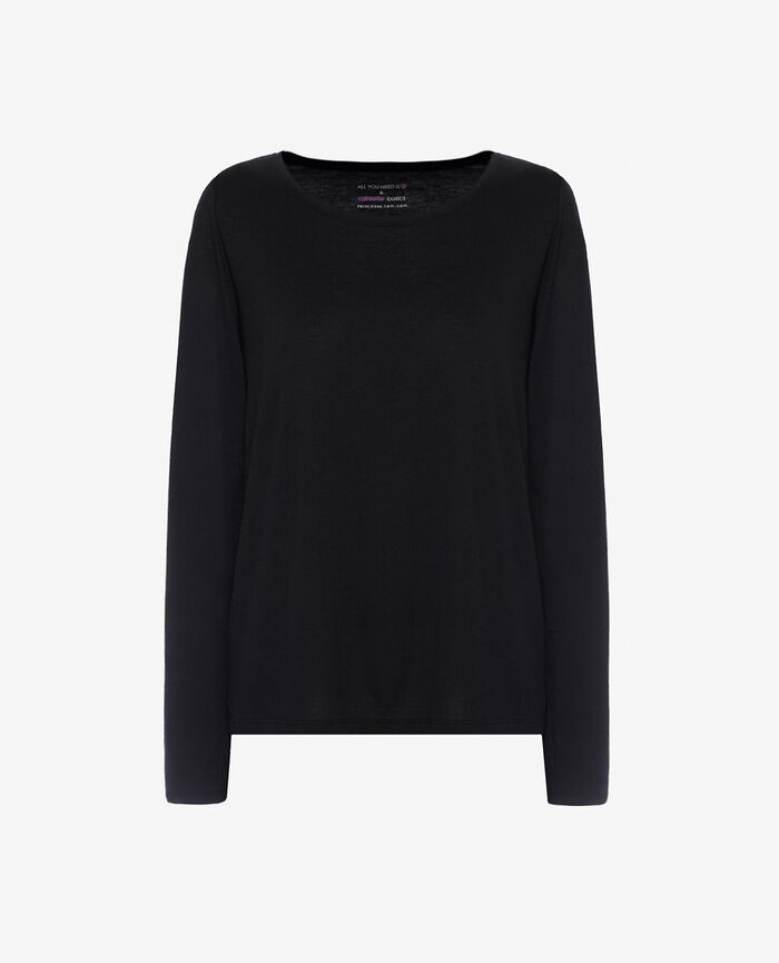 T-shirt manches longues Noir Latte