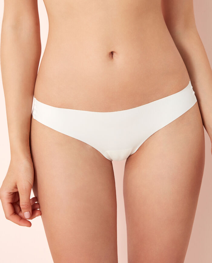 Thong Rose white Fantomette