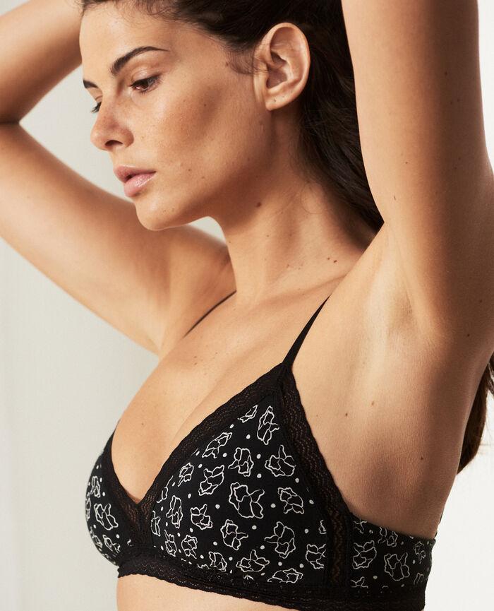Wireless padde bra Black petal Echo - the be cool