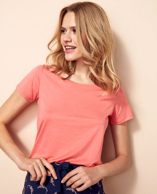 Short-sleeved t-shirt Funky pink Latte