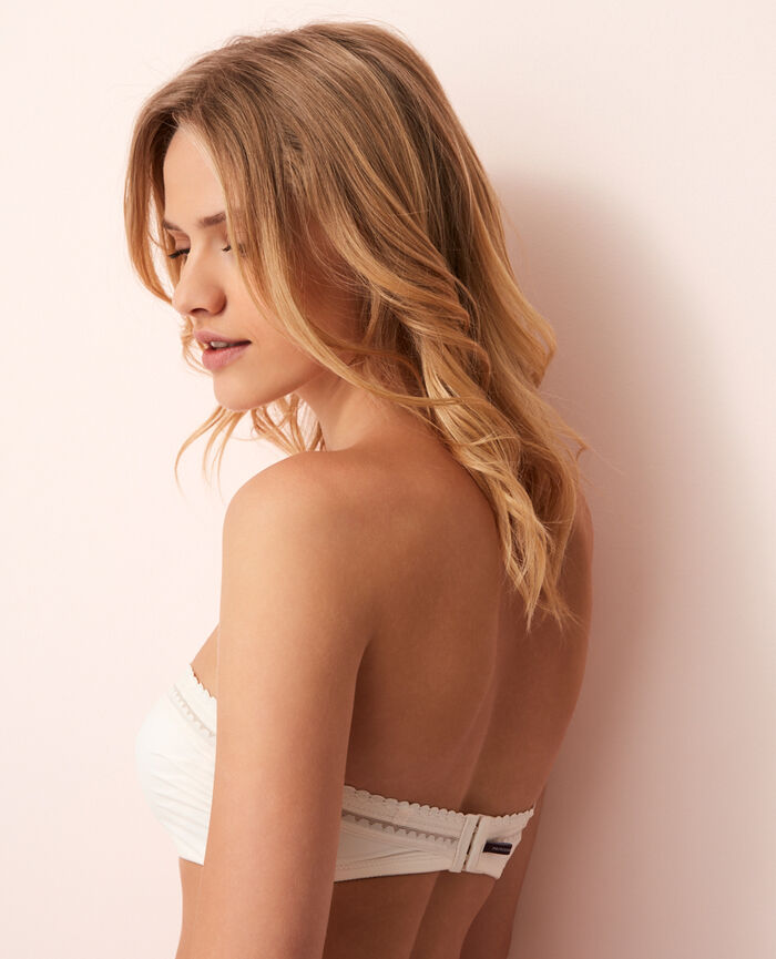 Strapless bra Rose white Beaute
