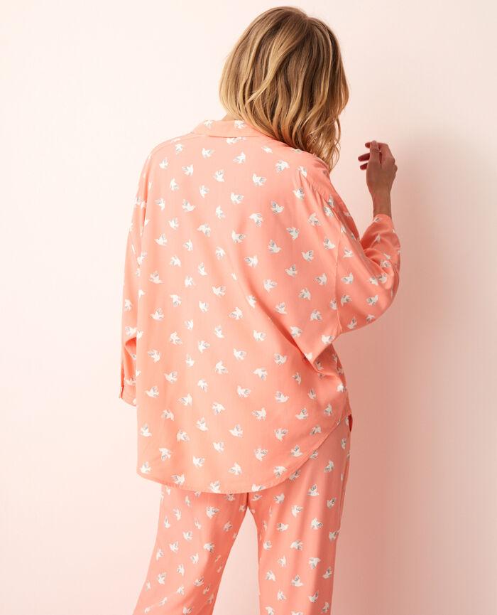 Veste de pyjama Olympe rose Darling