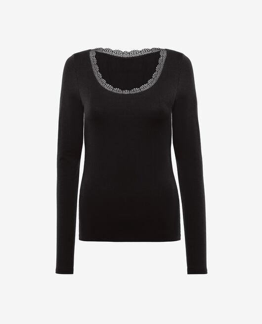 T-shirt manches longues Noir Heattech© extra warm