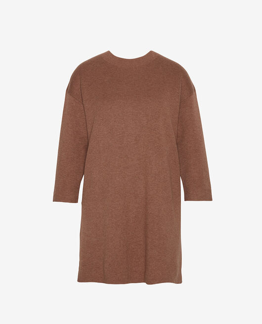 Long-sleeved tunic Nutmeg brown Naturel
