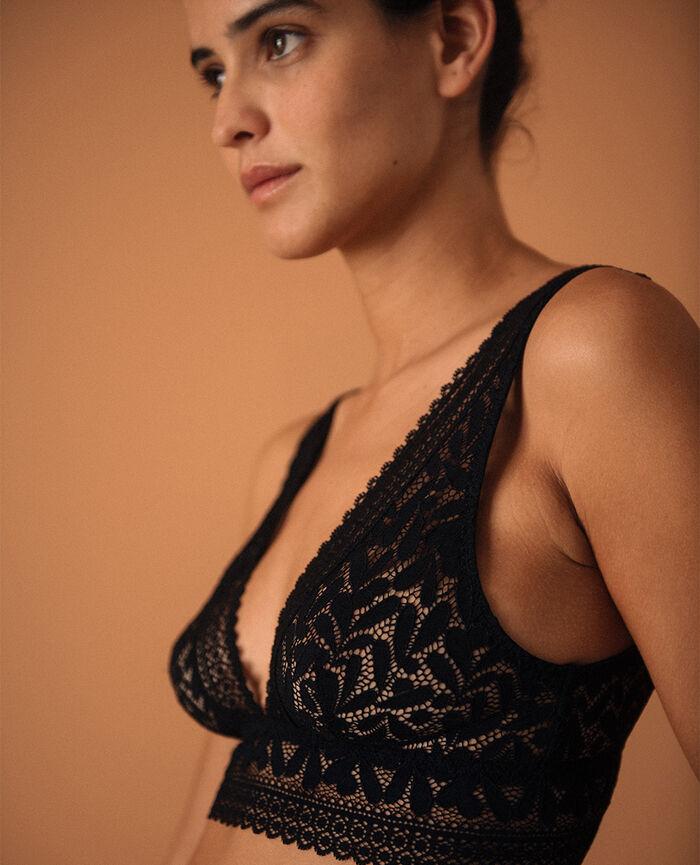Soft bustier bra Black Evidence - the take it easy