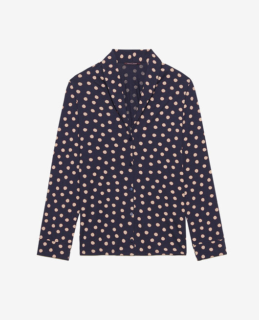 Pyjama jacket Powder beige peas Paresse print