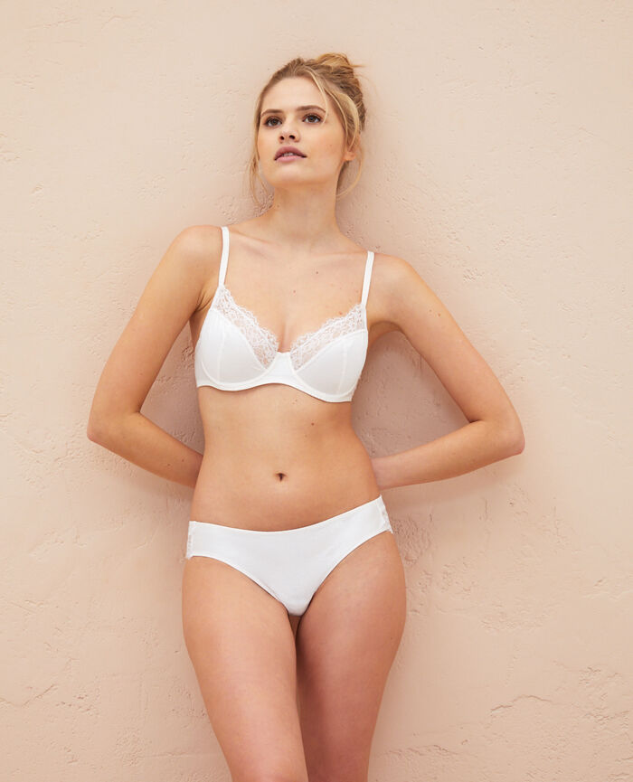 Underwired bra Rose white Habibi