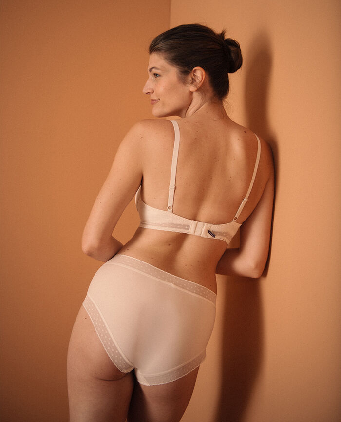High-waisted briefs Rose white Infiniment