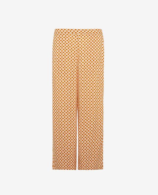 Gaucho pants Cumin yellow geometric Pyjmania