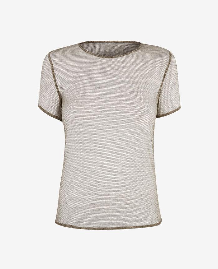T-shirt Gold lurex Lurex