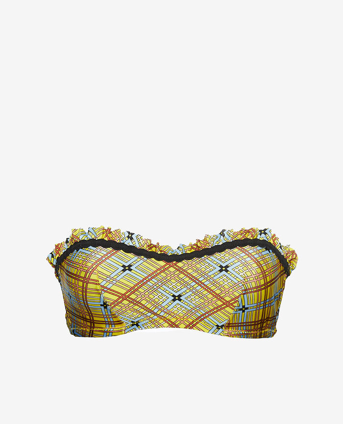 Maillot de bain bandeau armatures Jaune foulard Vacanze