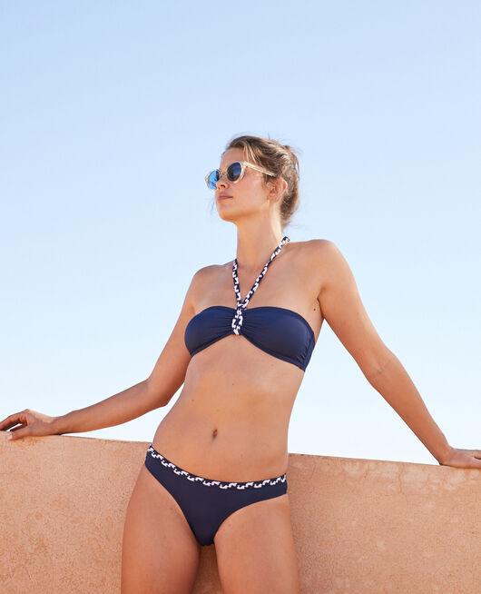Padded strapless bikini top Midnight blue Natte