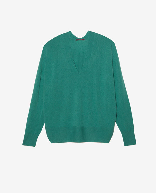 V-neck jumper Enamel green Cosy