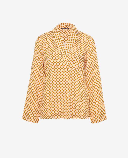Veste de pyjama Geometrique jaune cumin Pyjmania