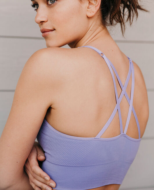 Sports bra light support Fantaisie violet Yoga
