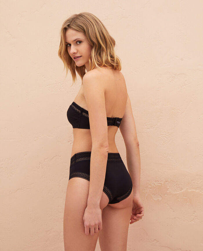 High-waisted briefs Black Eclat