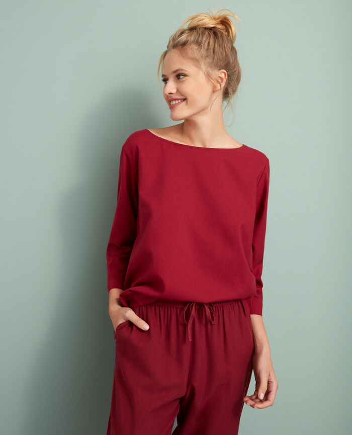 Top Leather red Abysse