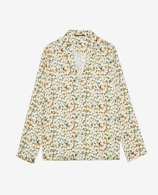Pyjama jacket Garden green tulip Attitude imprime