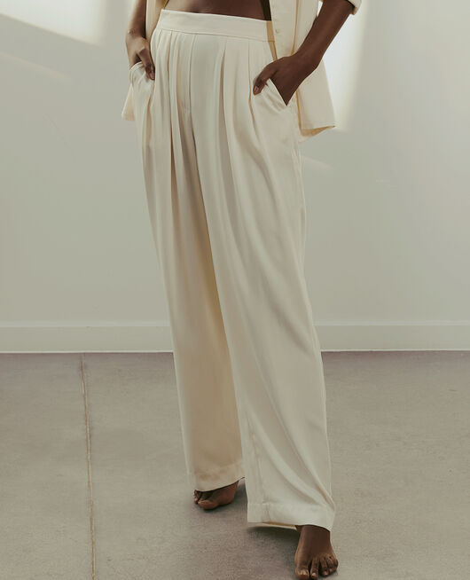 Trousers Rose white Attitude